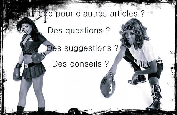 Ƹ̵̡Ӝ̵̨̄Ʒ  Des questions ?  Ƹ̵̡Ӝ̵̨̄Ʒ