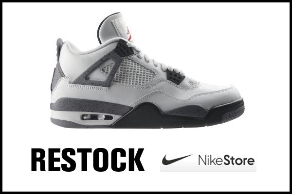 Jordan 4 white cement => restock !!!