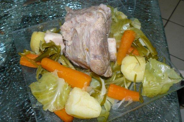 jarret de veau aux petits legumes