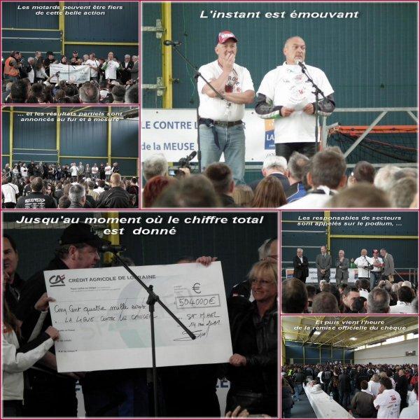 14 mai 2011-  remise du chèque pour la lutte contre le cancer