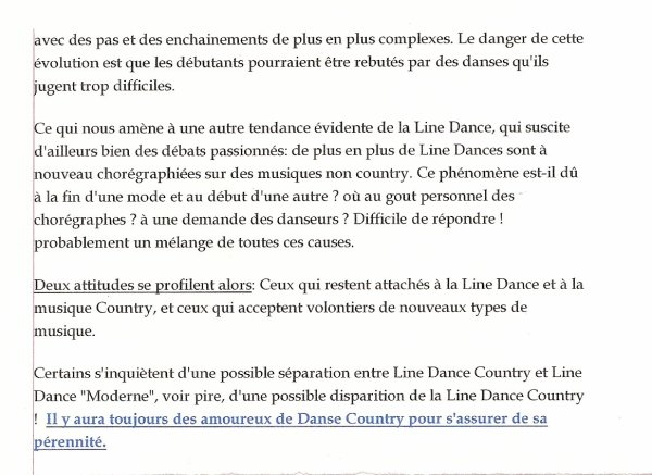 la danse country