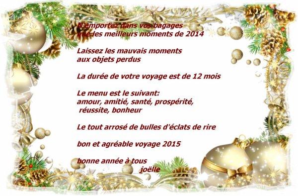 au revoir 2014 et bonjour 2015