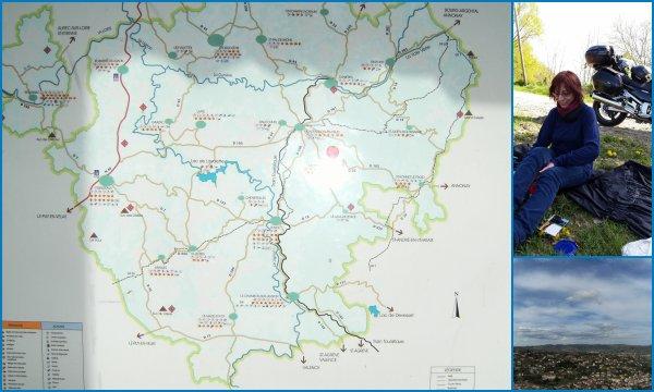 moto et randos au Puy en Velay (Auvergne)