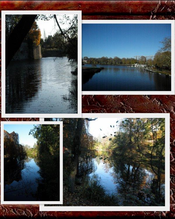 village de noel de Metz (57) en passant par le plan d'eau