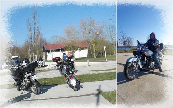 en moto au lac de Madine (55)