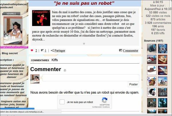 """""""je ne suis pas un robot"""""""