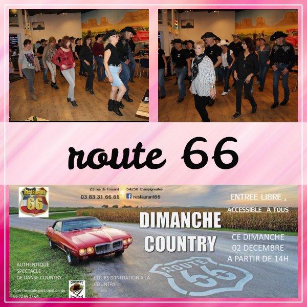 "démos du club ""station country 54"" au restaurant 66"