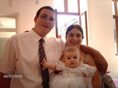 le baptême de ma fille