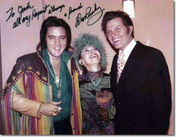 Elvis Presley et Jack Lord Las Vegas 10 Février 1973