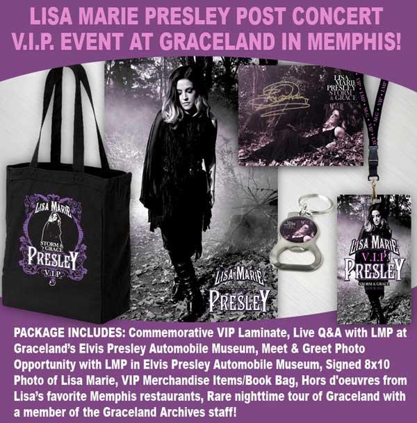 Lisa Marie Presley Message Concert Événement VIP à Graceland à Memphis