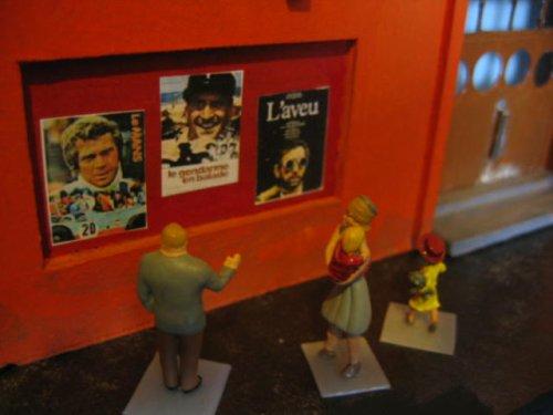 A l'affiche en ce moment (dioramas année 1970)... scène 8
