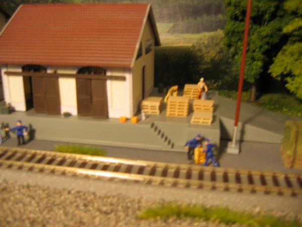 La zone de dépôt de la gare Château-Vaillant :