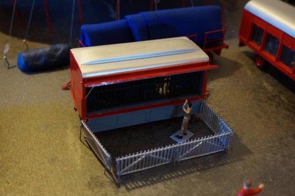 L'emplacement de la remorque-cage dans la ménagerie :