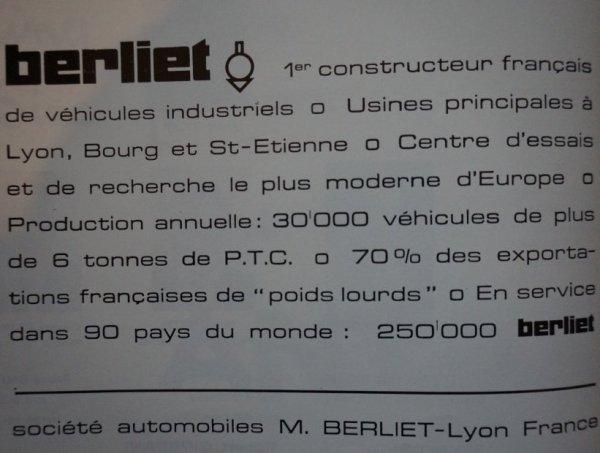 Berliet, partenaire du cirque Jean Richard :