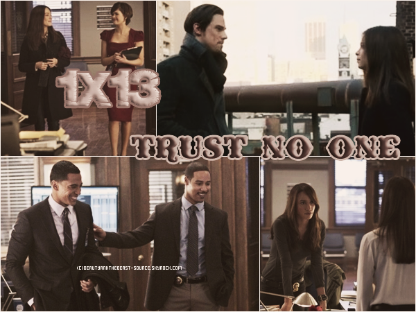 "→ Article # Episode 1x13 ""Trust No One"""