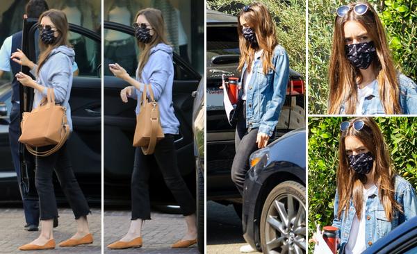 10 et 11 Octobre 2020 : Lily a été photographiée arrivant à Los Angeles le 10.10. Le lendemain elle quittait la demeure d'un ami à Studio City.