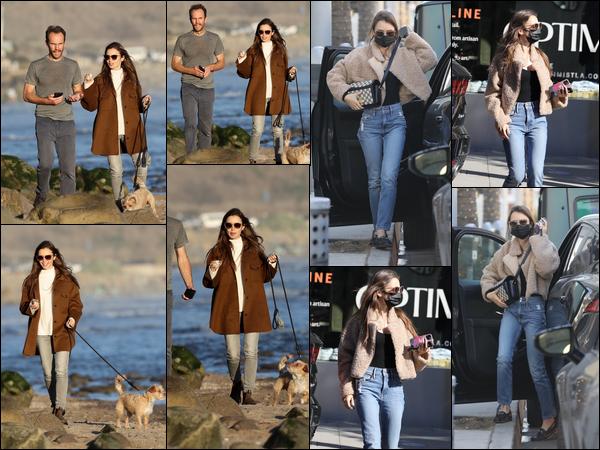 ● 10.01.2021 : Walking her dog on a beach in Santa Barbara / 11.01.21 : Shopping in Beverly Hills