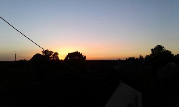 Vue du soir  dans la campagne