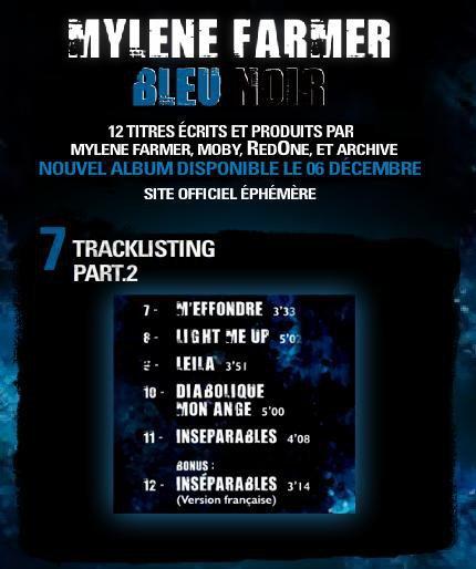 """Voici la tracklist partie 2 de """"Bleu noir"""""""