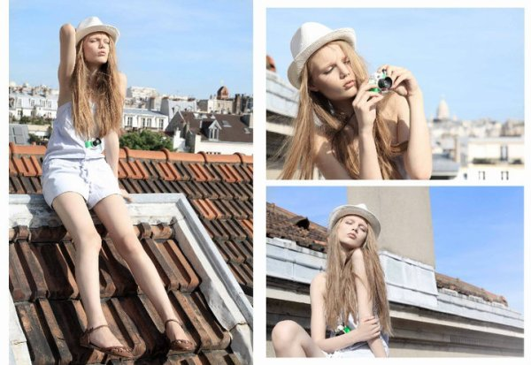 L'idée de prendre des photos sur un toit.