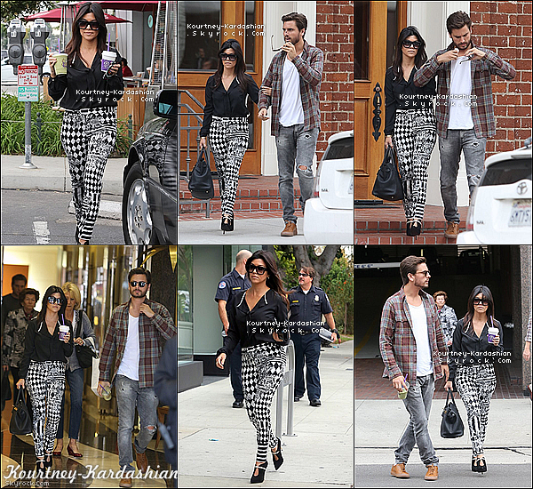 . 12/11/13 :  Miss Kourtney Kardashian en compagnie de Scott  dans Beverly Hills. .