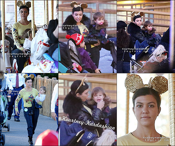 . 15/12/13 :  Kourtney, Penny & sa soeur Kim très remarquée en sortie à Beverly Hills. .
