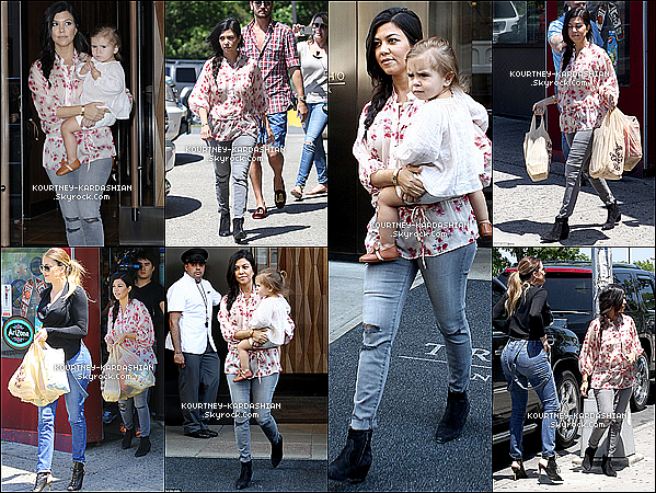 "* 02/06/14 : Kourtney et Khloé avec Penny, Mason et Scott quittant leur hôtel de NY direction les Hamptons.Kourtney & sa soeur se rendait au Hamptons pour commencer à tourner leur spin-off, ""Kourtney and Khloé take the Hamptons"". *"