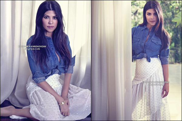Kourtney pour le magasine Harper's Bazaar, photographiée par Rene and Radka.