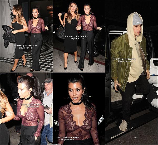 """27/01/16 : Kourtney et sa BFF quittant la boîte """"Nice Guy"""" de West Hollywood où était aussi Justin Bieber.Cette sortie aura suffit a relancer les rumeurs. Bref, elle est vraiment sexy et classe  pour le coup. Top on est bien d'accord ? POSTED BY CINDY ON JANUARY 31TH 2016"""
