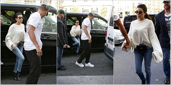 """30.09.17 : Kourtey et son copain Younes se rendant à """"La Tête des Nuages"""" dans Paris.Kourtney semble bien profiter de son trip dans notre pays, en bonne compagnie. Elle semble si apaisée ! POSTED BY CINDY ON OCTOBER 15TH 2017"""