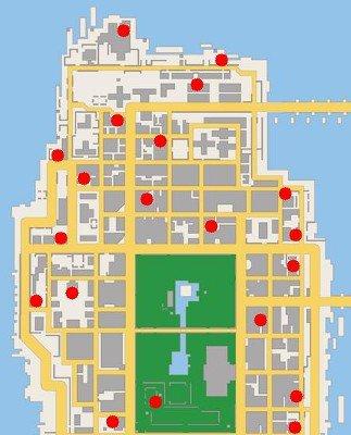 les caméras de sécurité de GTA CHINATOWN WARS