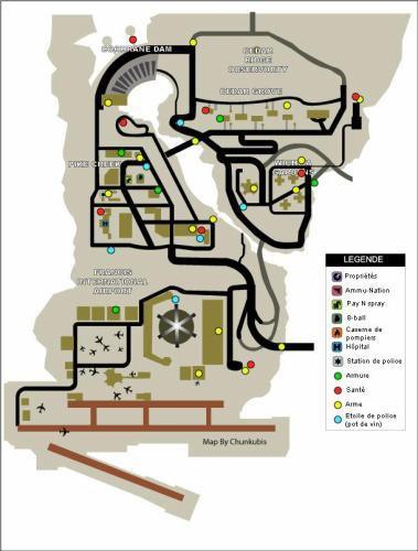 Localisation des Armes,des  Armures,Des Vies et des Etoiles de GTA LCS