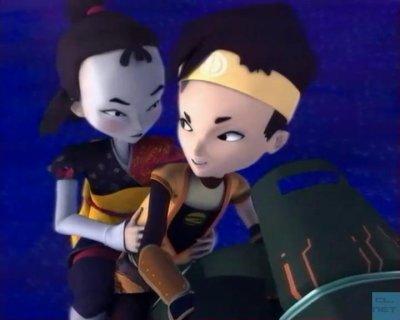 ulrich et yumi sur la moto
