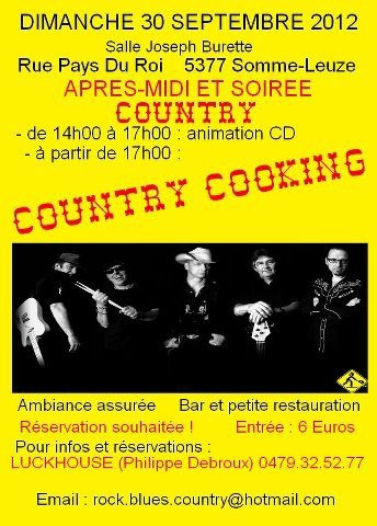 Country Cooking date a retenir 30 septembre