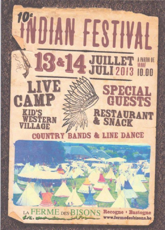 13 & 13 juillet Indian Festival Recogne
