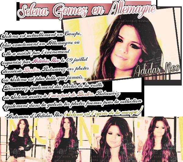 Selena Gomez en Allemagne