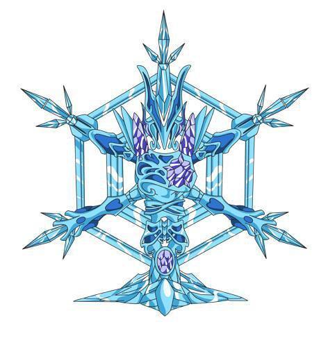 L'Armure D'Argent de Crystal Porter par Le Maitre de Hyoga Seigneur crystal