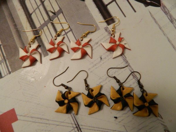 boucles d'oreilles moulins