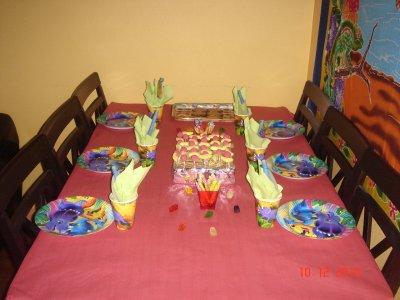 ma jolie table d'anniversaire