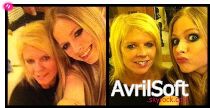 Avril Lavigne et sa maman !