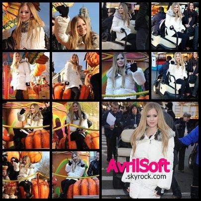 Avril Lavigne à la Thanksgiving Day Parade à New York !