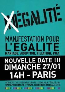 27 janvier 2013 : Agir pour l'égalité !