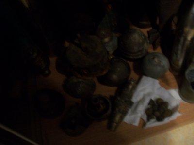 ensemble de grenade obus de 1914 a 1918