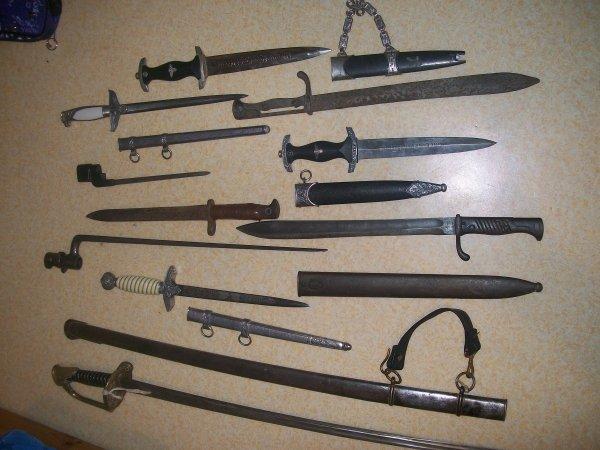mes dagues,sabre,baionnete,couteau