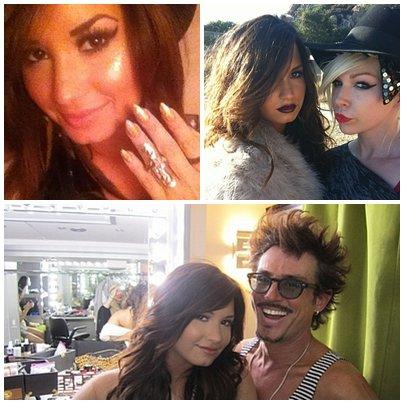 """Vidéo de Demi recevant les 2 Awards qui sont """"Chanson de l'été"""" et """" la personne la plus inspirante"""" Awards qu'elle mérite + Des photo de twitter + Message Facebook avec photo."""