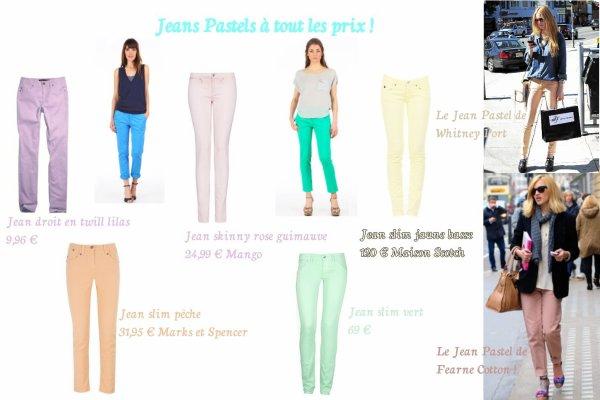 Mode : Jean Pastels