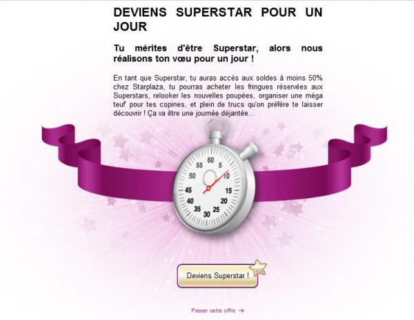 Superstar gratuit !