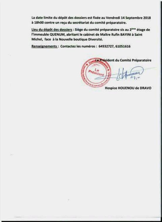 Élection à la tête de la fédération béninoise de Wushu: le nouveau comité exécutif sera connu le 29 septembre