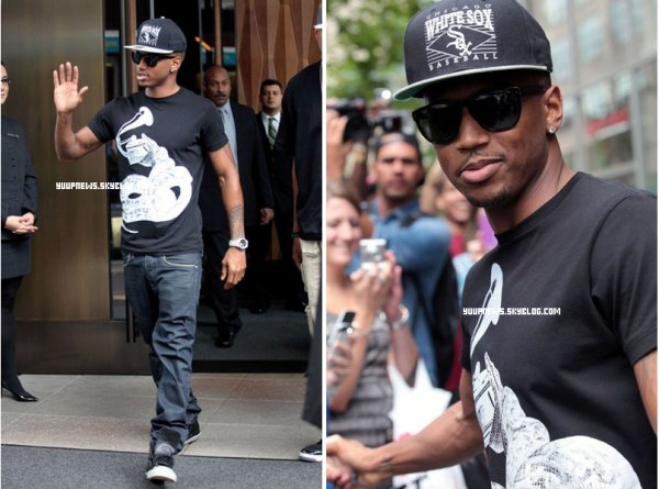 .        CANDIDS 16.08.2011 : Trey à sortant de son hôtel à New York.  .