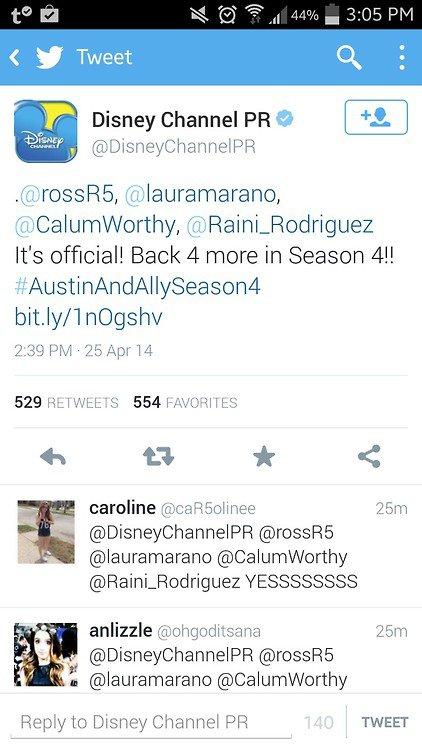 Austin & Ally saison 4 !